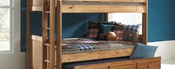 Full/Twin Trundle Bunk Bed