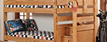 Bunk Bed with Reversible Steps